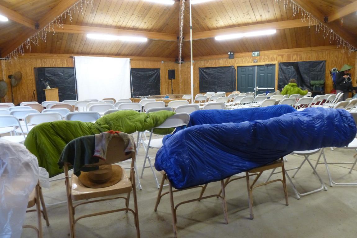 Schlafsäcke trocknen